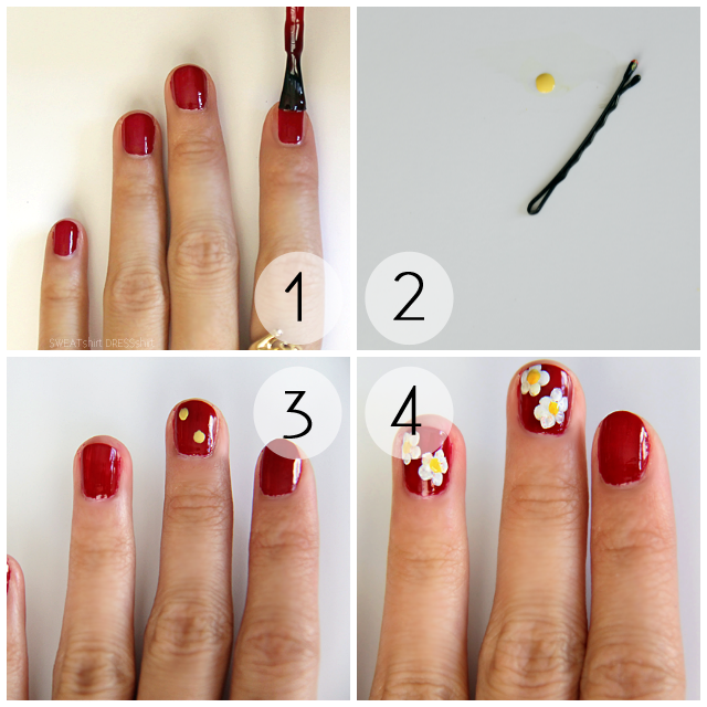 daisy nail tutorial, hippie nails, brandy melville gold ring, sephora by opi mr. right now