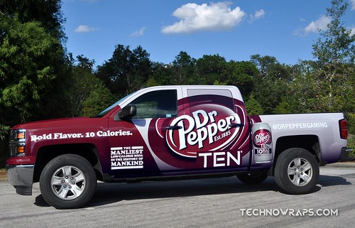 Custom vinyl truck wrap in Orlando, Florida
