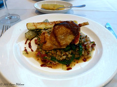 Guinea fowl at Forbury's restaurant