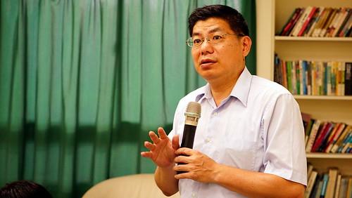詹長權教授提醒,高雄要好好思考雲林的前車之鑑;傅志男攝;圖片來源:地球公民基金會