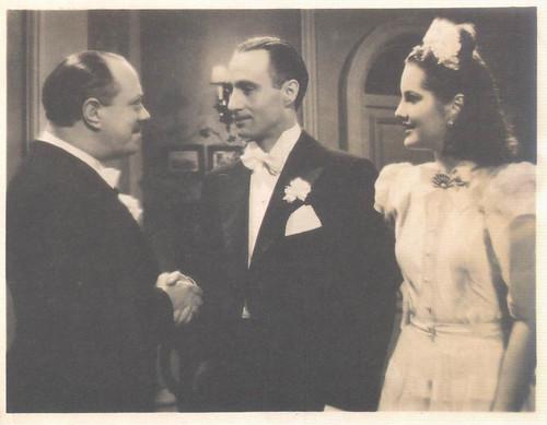 El Huésped del Cuarto 13, Maria Eugénia, Estévão Amarante e Alfredo Mayo, 1947