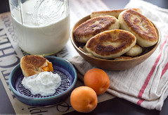 Apricot stuffed Pyrizhky