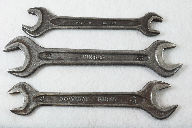 RD14652 3 Mercedes-Benz DIN 895 Open End Wrenches DSC06098