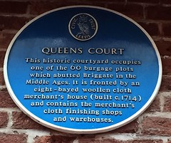 Photo of Queens Court blue plaque