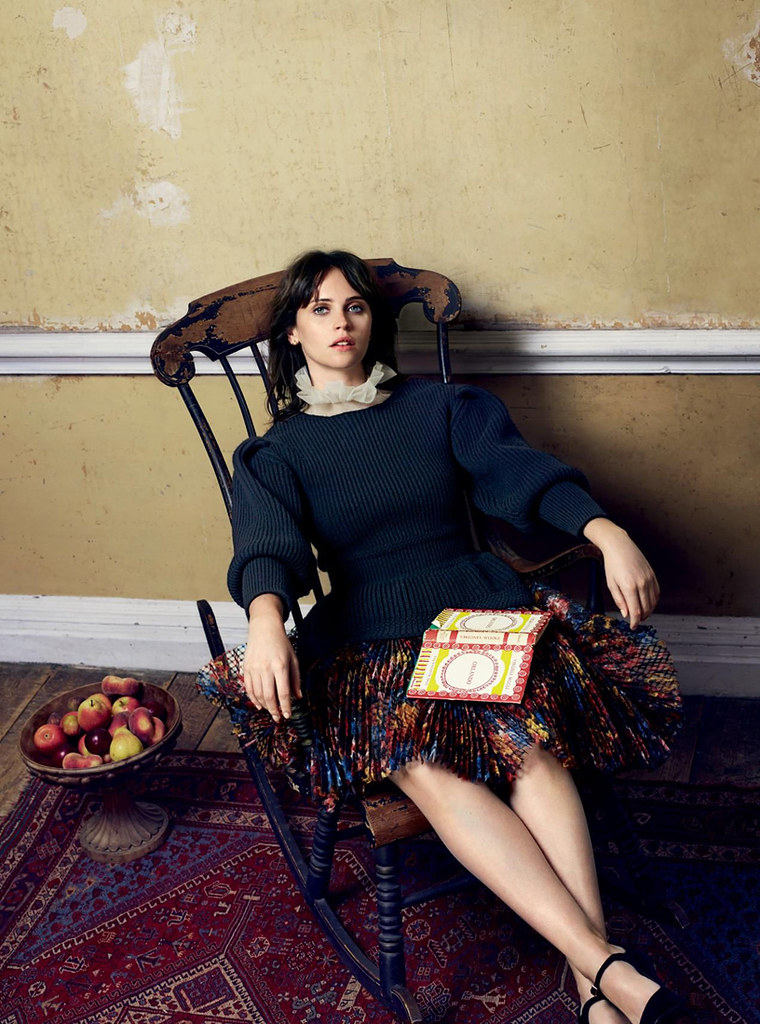 Фелисити Джонс — Фотосессия для «Harper's Bazaar» UK 2016 – 3