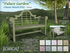 "@ The Old Fair - [CIRCA] - ""Palace Garden"" - Classic Bench (PG) - Moss"