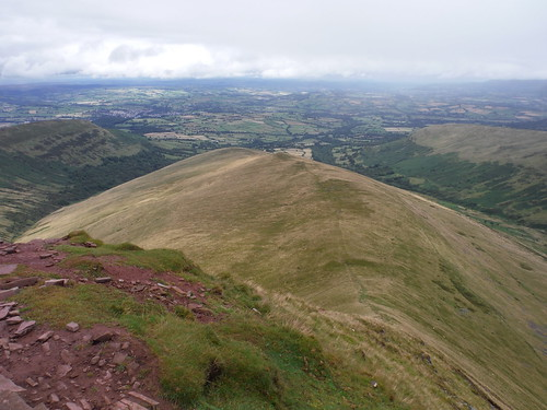 Descent to Brecon Route from Cribyn (down Bryn Teg)