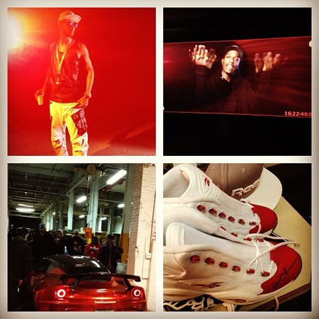 swizz beatz reebok street knock video shoot