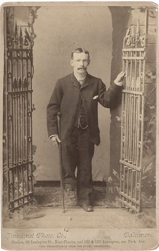 Uncle George - Man with a Crutch - Cabinet Card by Photo_History
