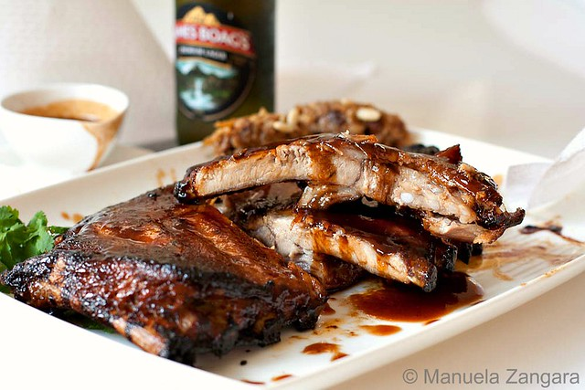 Balsamic, maple & miso glazed pork spare ribs with Sweet & Sour ...
