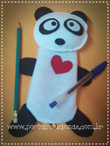 Estojo Panda *Ü* by miudezas_miudezas
