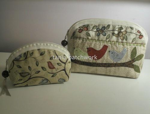 Conjunto Necessaires Passarinhos by tania patchwork