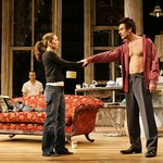 After a turbulent night of passion and betrayal, Anne Torsiglieri as Anna and Michael T. Weiss as Pale part ways in Huntington Theatre Company's production of Lanford Wilson's Burn This at the BU Theatre/Avenue of the Arts. Part of the 2004-2005 season. Photo: T. Charles Erickson