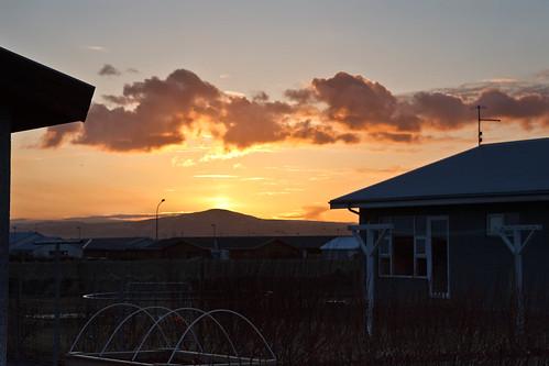 sunset iceland islandia pad ísland 2012 selfoss sólsetur mád fjoladogg fjóladögg