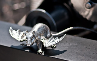flying rat hood ornament