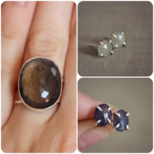 sapphires and iolite