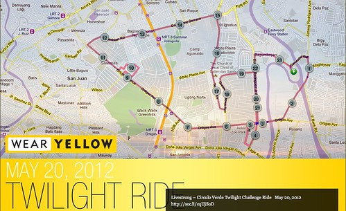 Livestrong - Circulo Verde, Twilight Challenge Ride Race Map