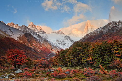 travel autumn camp patagonia argentina sunrise landscape nationalpark fallcolors helminadia montefitzroy pointcenot