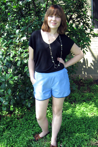 Shorts and Shirts Summer Wardrobe: Chambray Shorts