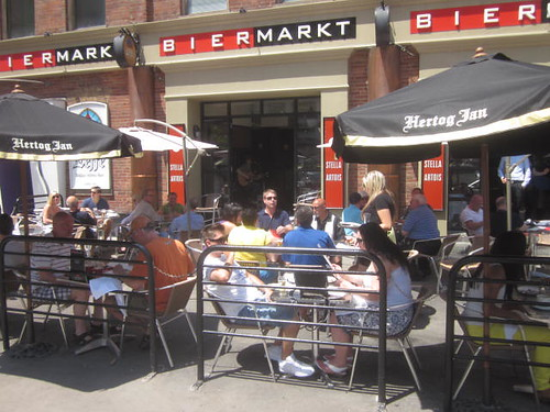 Bier Markt, patio on Esplanade, Summer Luvin, imported beer, shellfish