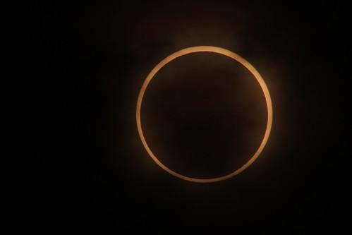 金環日食おわりかけ