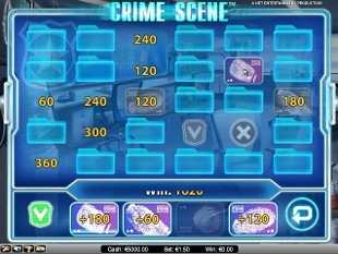 Crime Scene bonus game