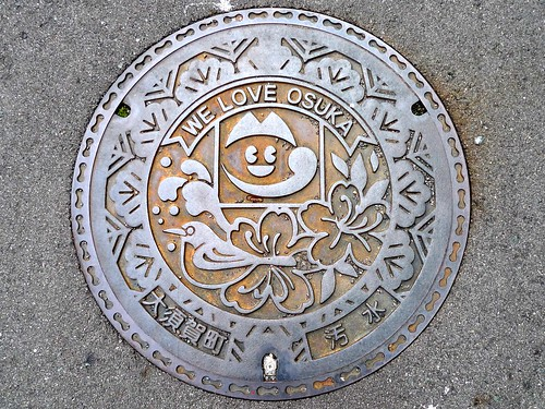 Osuka Shizuoka manhole cover (静岡県大須賀町のマンホール)
