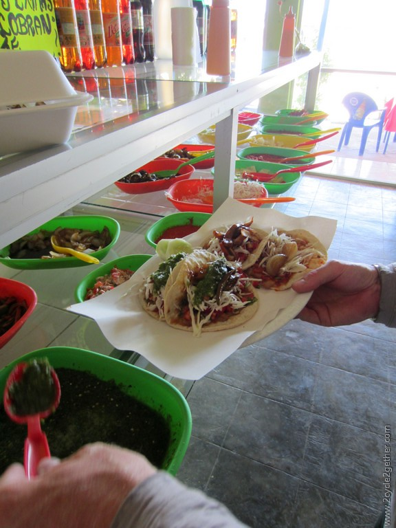 Bean Tacos, Just outside La Paz