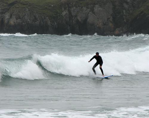 Surfer at Porth Oer