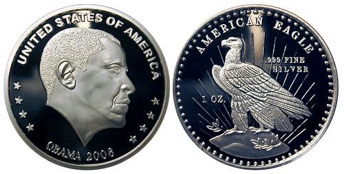 2008 Obama Silver Round