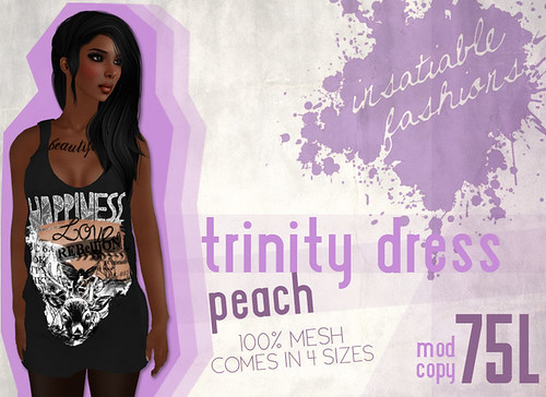 [IF] Trinity Dress - [Peach] Ad