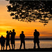 Bellingham Bay Sunset Silhouettes, Washington by Don Briggs
