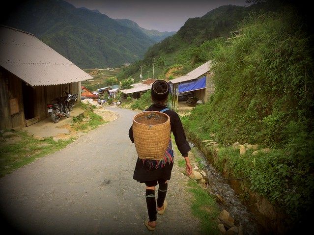 Hmong woman in the hills of Sapa, Vietnam