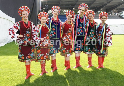 European Festival 2013 - Ukraine, Serbia, Bulgaria & other folk dancers at Swangard Stadium, Burnaby BC