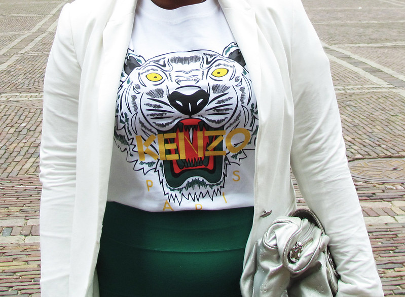 Converse, Kenzo, Tiger, Tiger t-shirt, White blazer, Zara, White on white, Friis company, Pull bear, musthave, fashion, blogger