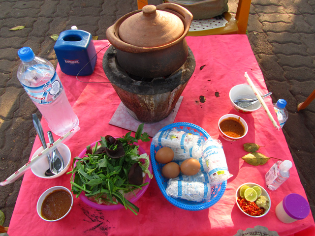 Hot pot in Laos
