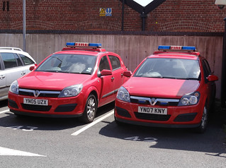 South Yorkshire Fire & Rescue Service 2x Vauxhall Astra Pool Cars