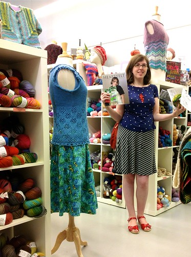 Visiting Hub Mills yarn store on my birthday