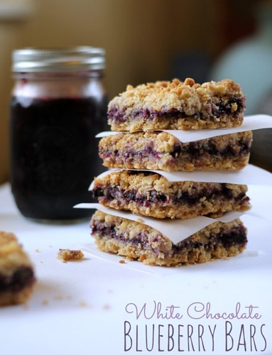 White Chocolate Blueberry Bars from This Gal Cooks.