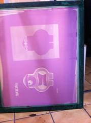 cadre insolé avec les deux modèles à imprimer pour composer la reproduction