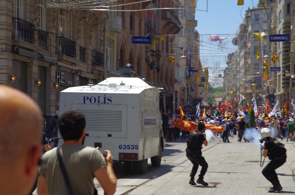 Tear Gas used on İstiklâl Caddesi near Taksim Square - Gezi Park, İstanbul