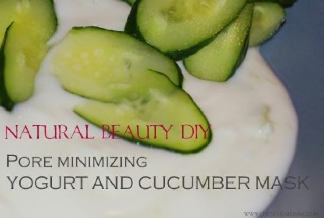 Cucumber yogurt mask by Chic n Cheap Living