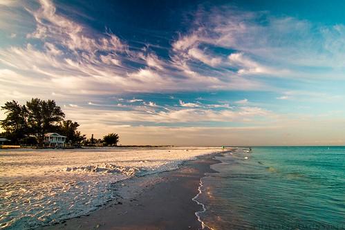 ocean sky beach gulfofmexico clouds sand florida annamariaisland turquoisewater manatteecounty
