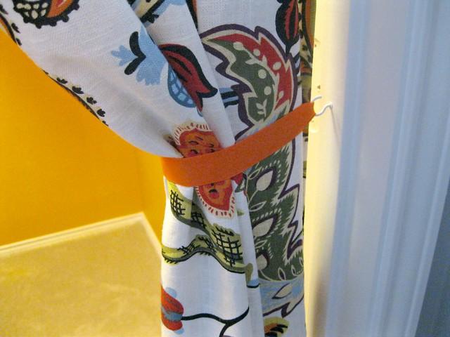 close-up of curtain closet