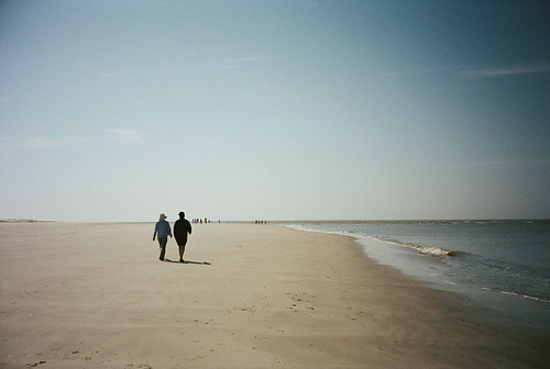 film beach sc 35mm walking spring lomo sand couple unitedstates walk southcarolina lifestyle lomolca 35mmfilm hiltonhead hiltonheadisland kodakportra400 35mmcamera 2013 filmphotographypodcast