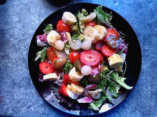 ensalada con frutas vinagreta de miel BUENA