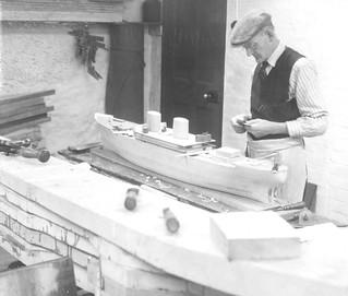 A master model maker at Joseph L Thompson & Sons Ltd