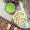 Perfect after a 12 mile run! #oatmeal #greensmoothie #recovery