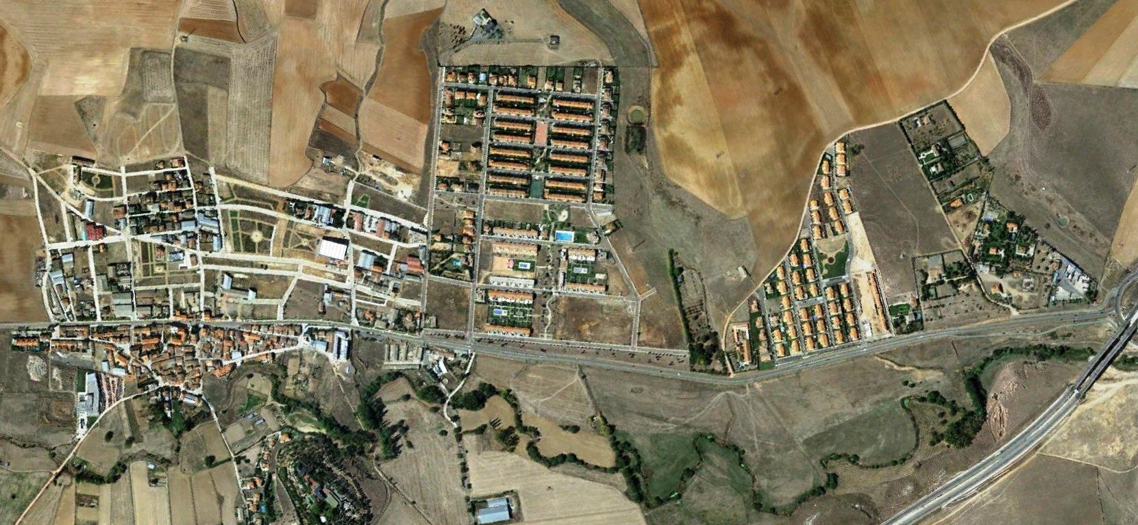 después, urbanismo, foto aérea,desastre, urbanístico, planeamiento, urbano, construcción, Aldeatejada, Salamanca