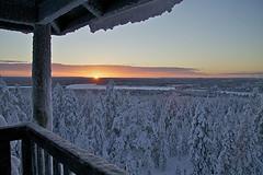 Kamil Jagodzinski - Sunrise over a snowcovered Forest